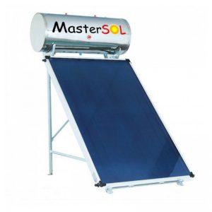 Ηλιακός Θερμοσίφωνας 120lt Mastersol GlassInox Επιλεκτικός 2,0τμ - Ως 6 άτοκες δόσεις