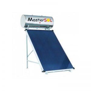 Ηλιακός Θερμοσίφωνας 160lt Mastersol Glassinox Επιλεκτικός 2,5τμ