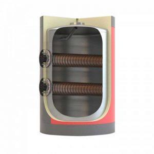 Boiler λεβητοστασίου MasterSol BLV2 3000 λίτρα τριπλής ενέργειας (με 2 αποσπώμενους εναλλάκτες)