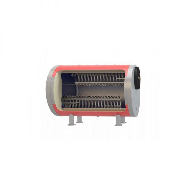 Boiler λεβητοστασίου MasterSol BLHi2 1500 λίτρα τριπλής ενέργειας - οριζόντιο (με 2 αποσπώμενους εναλλάκτες)